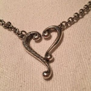"Brighton heart necklace 16"" with 2"" extender"
